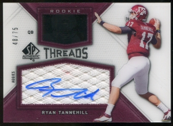 2012 Upper Deck SP Authentic Rookie Threads Autographs #RTRT Ryan Tannehill Autograph /75