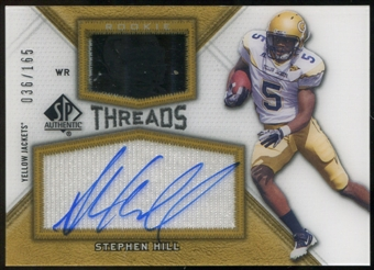 2012 Upper Deck SP Authentic Rookie Threads Autographs #RTSH Stephen Hill Autograph /165