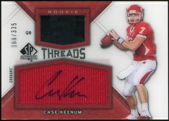 2012 Upper Deck SP Authentic Rookie Threads Autographs #RTCK Case Keenum Autograph /335