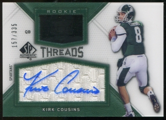 2012 Upper Deck SP Authentic Rookie Threads Autographs #RTKC Kirk Cousins Autograph /335