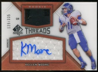 2012 Upper Deck SP Authentic Rookie Threads Autographs #RTKM Kellen Moore Autograph /335