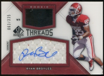 2012 Upper Deck SP Authentic Rookie Threads Autographs #RTRB Ryan Broyles Autograph /335