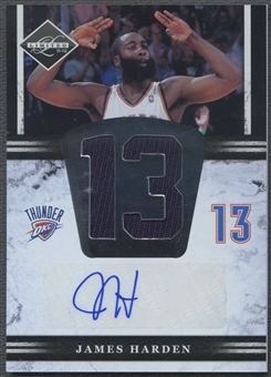 2011/12 Limited #5 James Harden Jumbo Jersey Numbers Auto #11/49