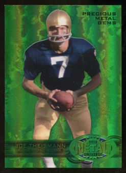 2012 Upper Deck Retro Joe Theismann Precious Metal Green Gem Serial 2/10