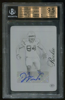 2011 Panini Prime Signatures Printing Plates 1/1 RC Rookie DJ Williams BGS 9.5 Gem Mint