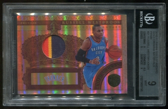 2010/11 Panini Gold Standard Russell Westbrook Serial #7/25 BGS 9