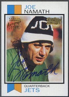 2001 Topps #TTF13 Joe Namath Team Topps Legends Auto 73T