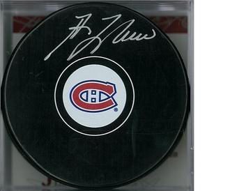 Guy Lafleur Autographed Montreal Canadiens Hockey Puck (Frozen Pond)