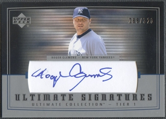 2002 Ultimate Collection #RC1 Roger Clemens Signatures Tier 1 Auto #288/320