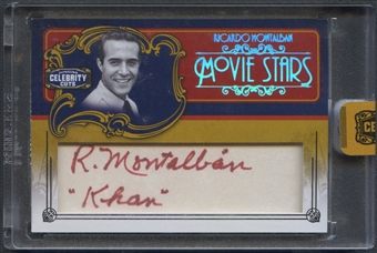 2008 Celebrity Cuts #RM2 Ricardo Montalban Khan Movie Stars Signature Cuts Auto #13/15
