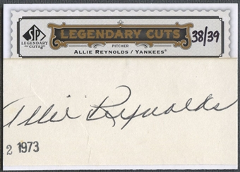 2009 SP Legendary Cuts #LC203 Allie Reynolds Legendary Cut Signatures Auto #38/39
