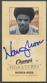 2009/10 Upper Deck Champ's #CSWM Warren Moon Signatures Auto