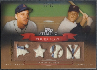 2010 Topps Sterling #CCR51 Roger Maris Career Chronicles Relics Quad Jersey #09/10