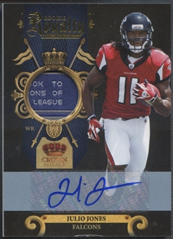 2011 Crown Royale #12 Julio Jones Rookie Royalty Laundry Tag Auto #05/25