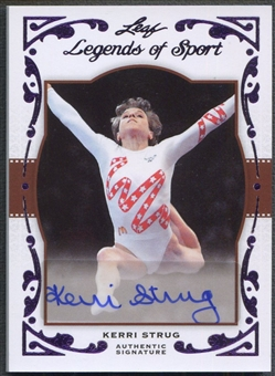 2011 Leaf Legends of Sport #BA45 Kerri Strug Purple Auto #1/1