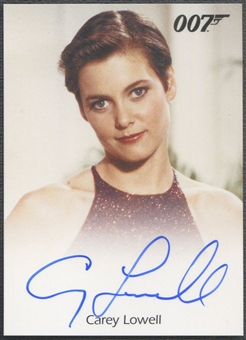 2012 James Bond 50th Anniversary Full Bleed #6 Carey Lowell Auto