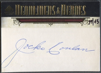 2008 SP Legendary Cuts #JC Jocko Conlan Headliners and Heroes Cut Signatures Auto #39/43