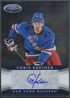 2012/13 Certified #29 Chris Kreider Certified Signatures Rookie Auto