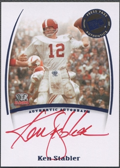 2007 Press Pass Legends #79 Ken Stabler Red Ink Auto