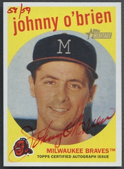 2008 Topps Heritage #JO Johnny O'Brien Real One Red Ink Auto #58/59