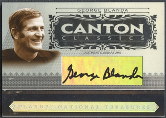 2006 Playoff National Treasures #GB George Blanda Canton Classics Signature Auto #07/16