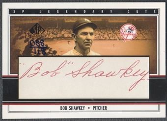 2002 SP Legendary Cuts #BSH Bob Shawkey Cut Auto #088/118