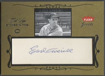 2004 Greats of the Game #EAV Earl Averill Etched in Time Cuts Auto #37/50
