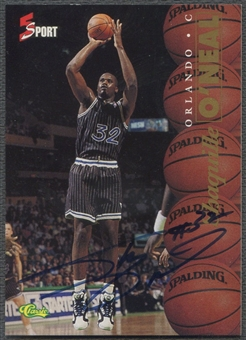 1995 Classic Five Sport #6 Shaquille O'Neal Hot Box Auto #172/655