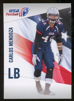 2012 Upper Deck USA Football #10 Carlos Mendoza