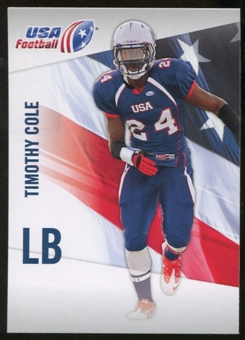 2012 Upper Deck USA Football #46 Timothy Cole