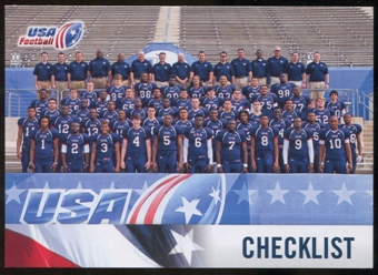 2012 Upper Deck USA Football #50 Team Photo