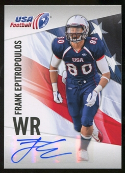 2012 Upper Deck USA Football Autographs #17 Frank Epitropoulos Autograph