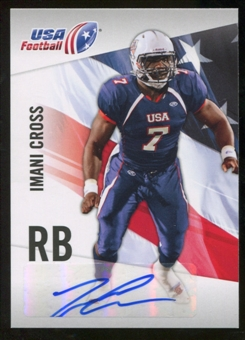 2012 Upper Deck USA Football Autographs #25 Imani Cross Autograph
