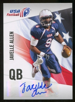 2012 Upper Deck USA Football Autographs #30 Javelle Allen Autograph