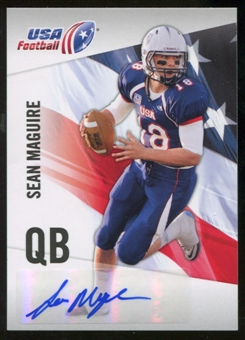 2012 Upper Deck USA Football Autographs #42 Sean Maguire Autograph