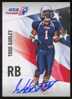 2012 Upper Deck USA Football Autographs #47 Todd Gurley Autograph