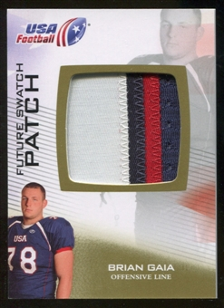 2012 Upper Deck USA Football Future Swatch Patch #FS6 Brian Gaia