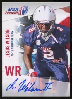 2012 Upper Deck USA Football U-19 National Team Autographs #U1912 Jesus Wilson Autograph