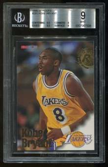 1996/97 Hoops #281 Kobe Bryant RC Rookie BGS 9 Mint