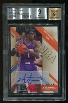 2010/11 Panini Prestige Amare Stoudemire Stars Of The NBA Autograph Serial #8/25 BGS 9