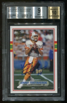 2013 Topps Archives Fan Favorites Vinny Testaverde Autograph BGS 9 Mint Auto 10