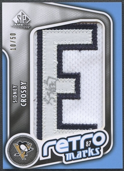 "2010/11 SP Game Used #RMSC Sidney Crosby Retro Marks Letter ""E"" Patch Auto #10/50"