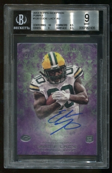 2013 Topps Inception Purple Eddie Lacy RC Autograph Serial #44/75 BGS 9 Mint 10 Auto