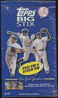 2008 Topps Big Stix Baseball New York Yankees Box