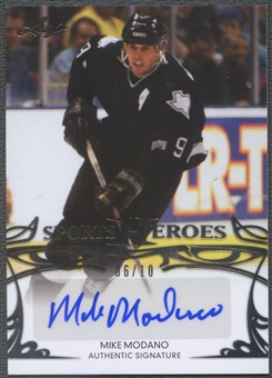 2013 Leaf Sports Heroes #BAMM1 Mike Modano Silver Auto #06/10
