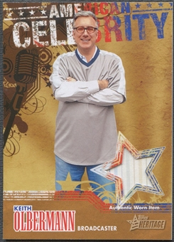 2009 Topps American Heritage #KO Keith Olbermann American Celebrity Relic Shirt
