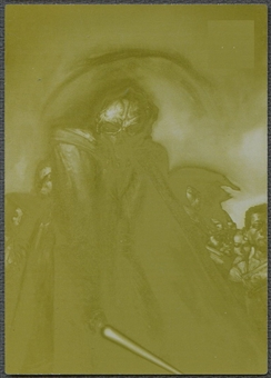 2009 Star Wars Galaxy Series 4 #87 A Stark Challenge Printing Plate Yellow #1/1