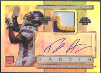2009 Topps Platinum #ARPPH Percy Harvin Rookie Patch Auto #158/300