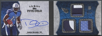 2010 Topps Five Star #3RDW Damian Williams Rookie Triple Patch Silver Auto #14/25