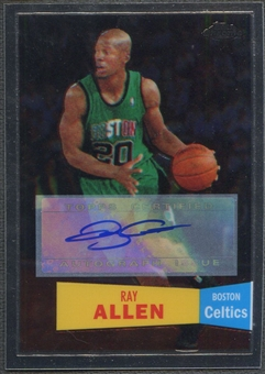 2007/08 Topps Chrome #9 Ray Allen 1957-58 Variations Auto #80/99